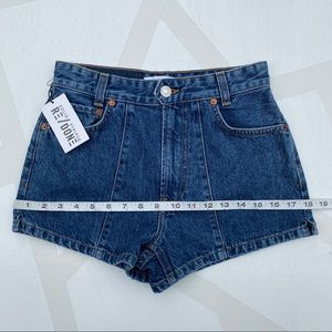 Re/Done Shorts - RE/DONE 70's Pintuck Denim Shorts 25